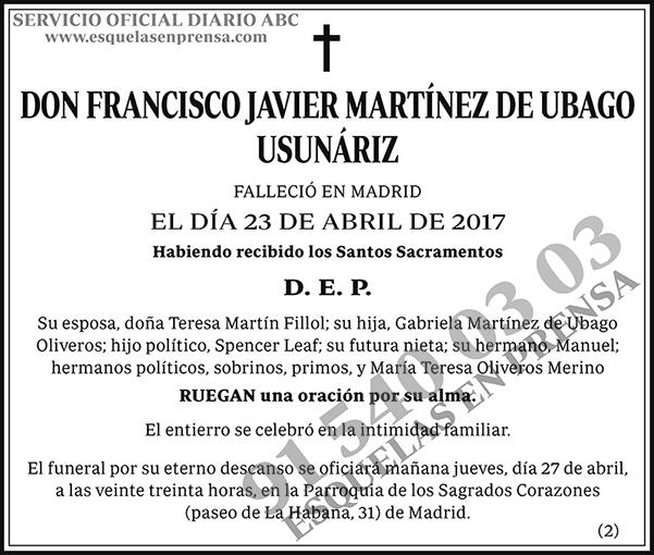 Francisco Javier Martínez de Ubago Usunáriz